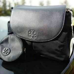 New Tory Burch Travel Leather Messenger Diaper Bag